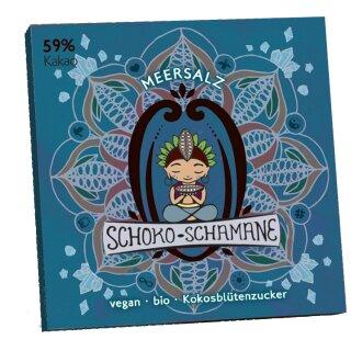 50g Schoko-Schamane Meersalz, 59% Kakao